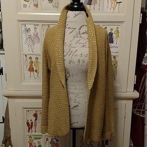 Jones New York gold sweater/jacket Sz XL